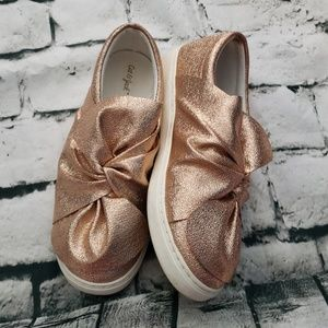 CAT & JACK rose gold sparkle sneakers sz 5Y